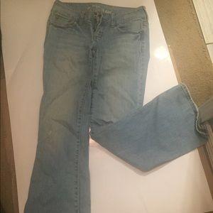 Light denim jeans